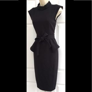 BADGLEY MISCHKA Collection Black Peplum Dress 2